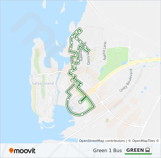 GREEN bus Line Map