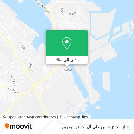 خريطة خباز الحاج حسن علي آل أحمد