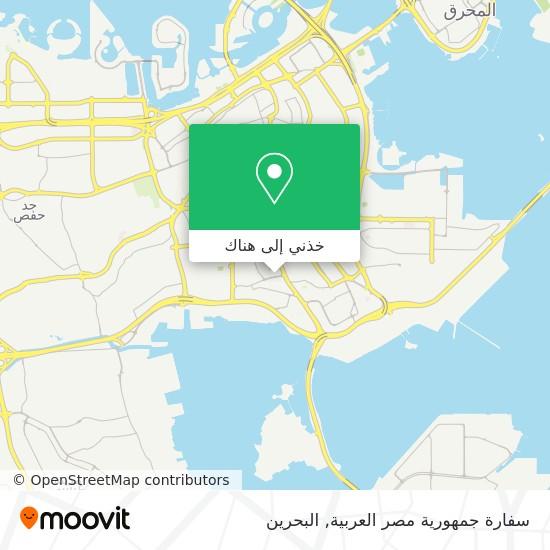 خريطة Embassy Of The Arab Republic Of Egypt