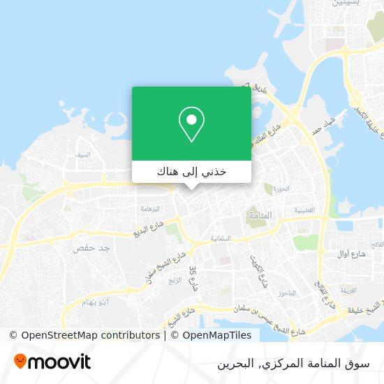 خريطة Manama Central Market