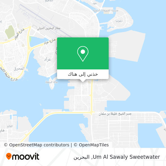 خريطة Um Al Sawaly Sweetwater