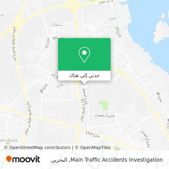 خريطة Main Traffic Accidents Investigation