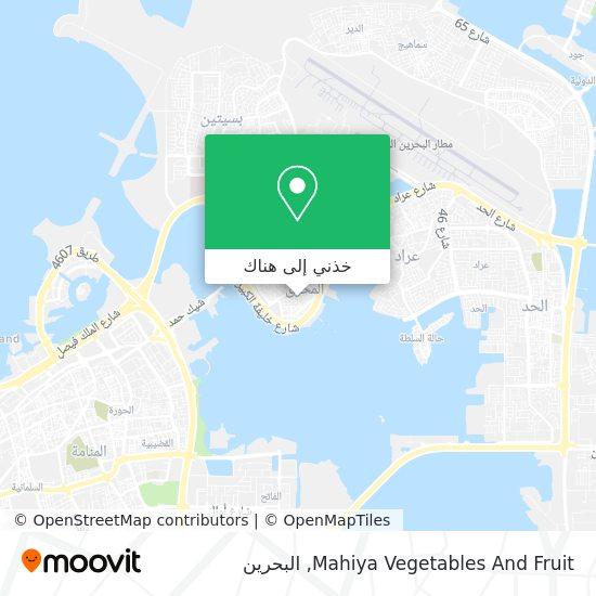 خريطة Mahiya Vegetables And Fruit
