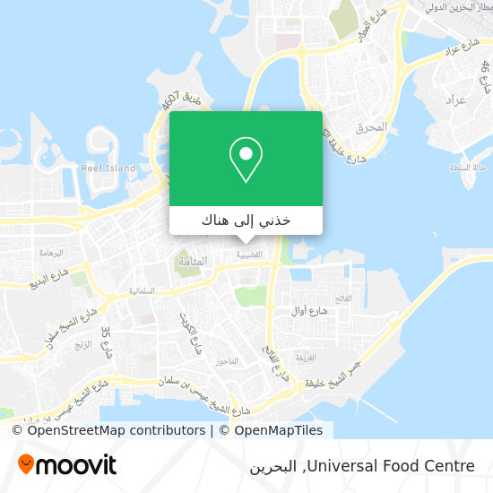 خريطة Universal Food Centre