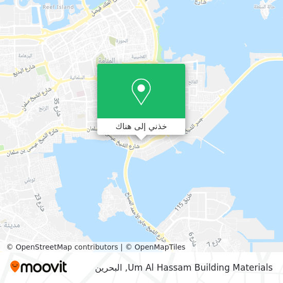 خريطة Um Al Hassam Building Materials