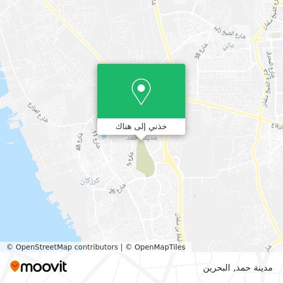 خريطة مدينة حمد
