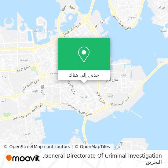 خريطة General Directorate Of Criminal Investigation