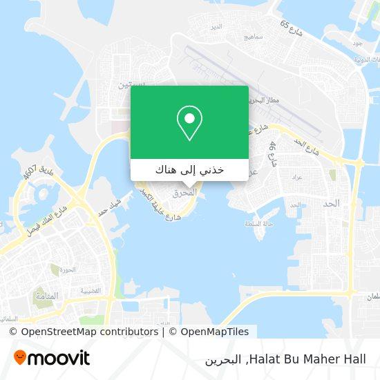 خريطة Halat Bu Maher Hall