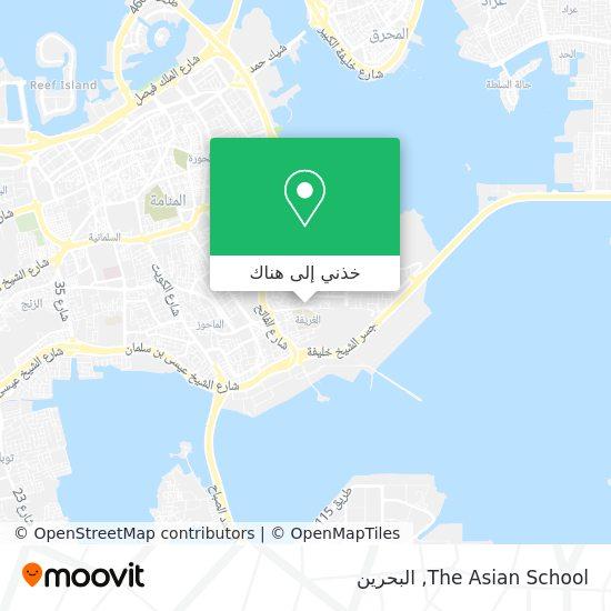 خريطة The Asian School