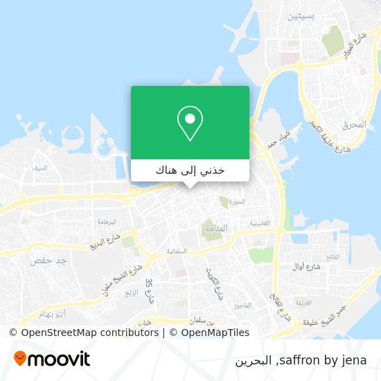 خريطة saffron by jena