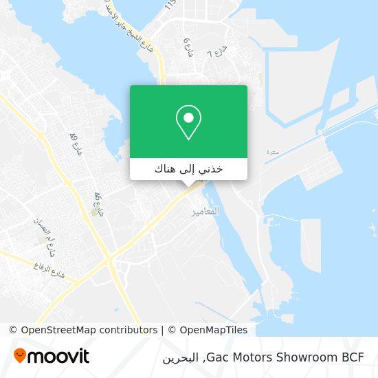 خريطة Gac Motors Showroom BCF