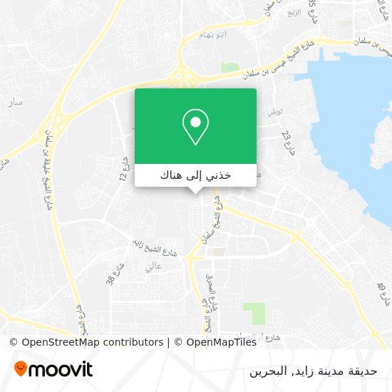 خريطة حديقة مدينة زايد