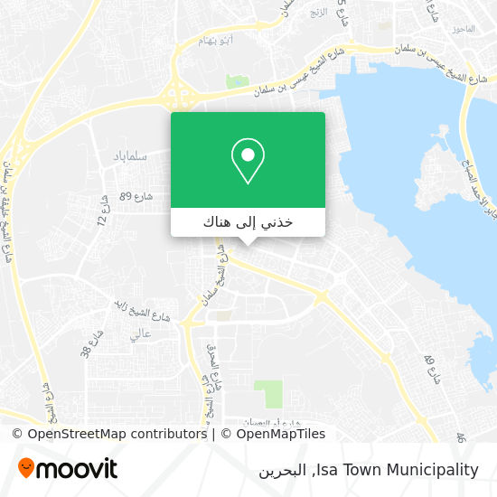 خريطة Isa Town Municipality