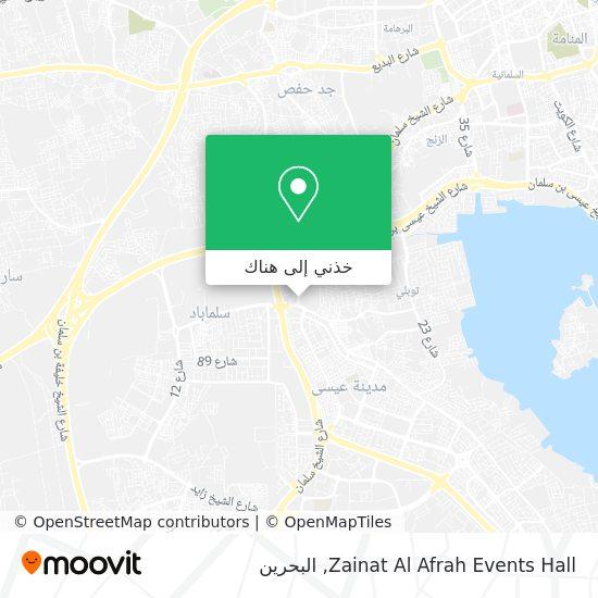 خريطة Zainat Al Afrah Events Hall