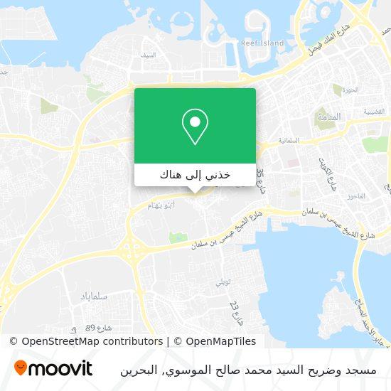 خريطة مسجد وضريح السيد محمد صالح الموسوي
