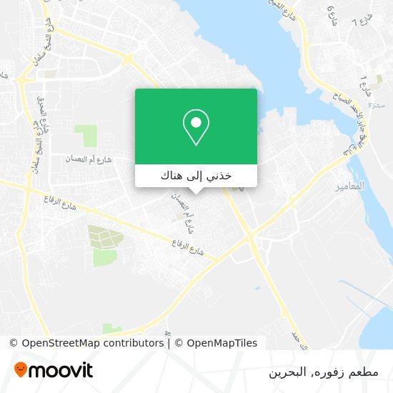 خريطة مطعم زفوره