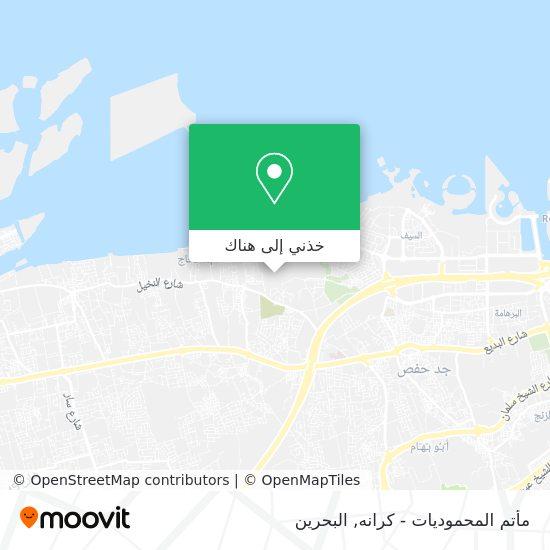 خريطة مأتم المحموديات - كرانه