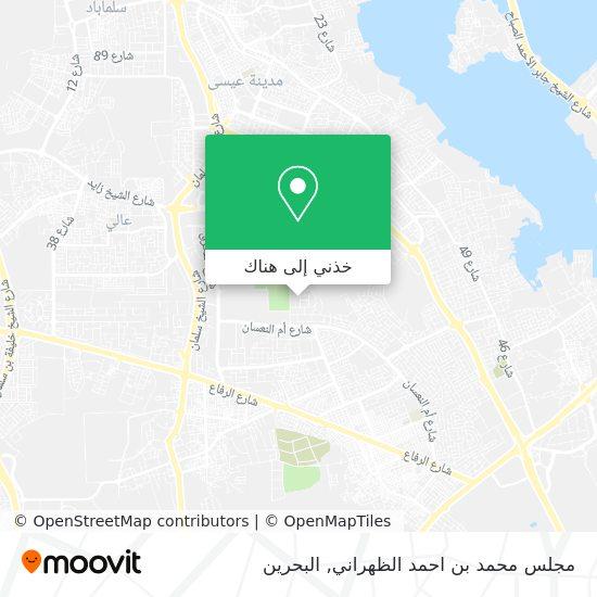خريطة مجلس محمد بن احمد الظهراني