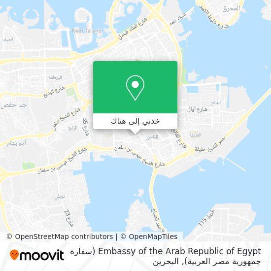 خريطة Embassy of the Arab Republic of Egypt (سفارة جمهورية مصر العربية)