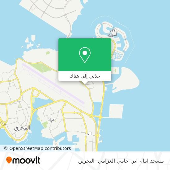 خريطة مسجد امام ابي حامي الغزامي