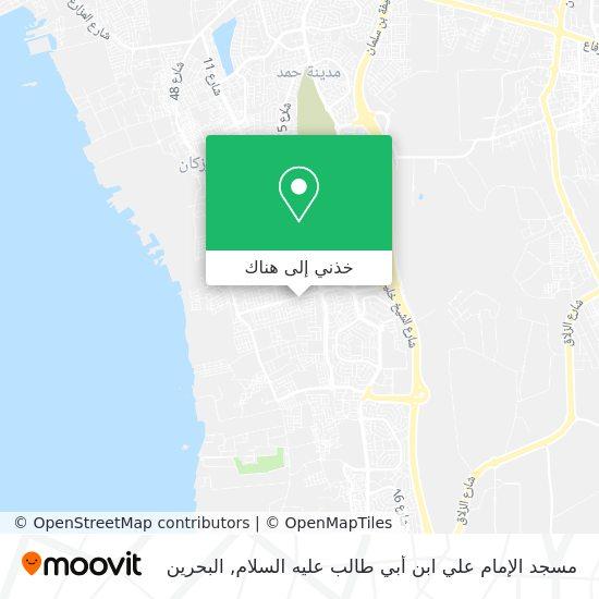 خريطة مسجد الإمام علي ابن أبي طالب عليه السلام