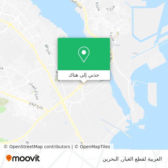 خريطة العربية لقطع الغيار
