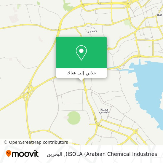 خريطة ISOLA (Arabian Chemical Industries)