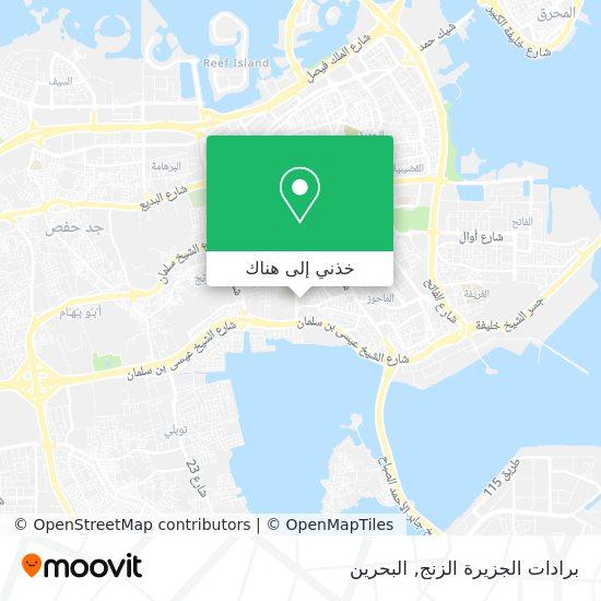 خريطة برادات الجزيرة الزنج