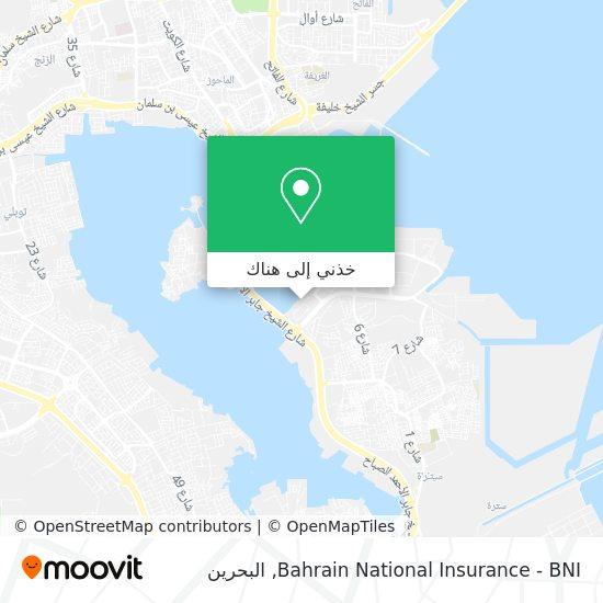 خريطة Bahrain National Insurance - BNI