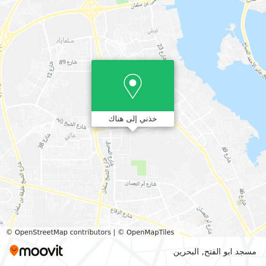 خريطة مسجد ابو الفتح