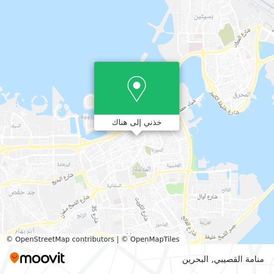 خريطة منامة القصيبي