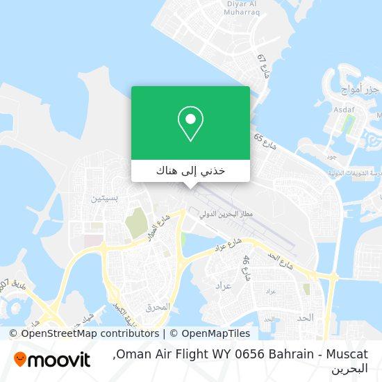 خريطة Oman Air Flight WY 0656 Bahrain - Muscat