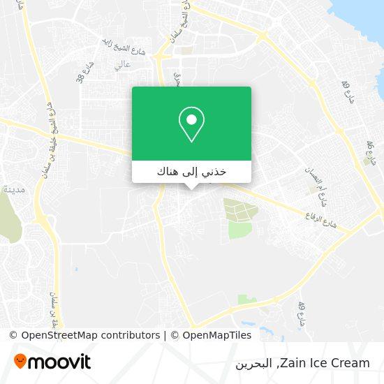 خريطة Zain Ice Cream