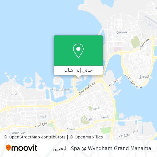 خريطة Spa @ Wyndham Grand Manama
