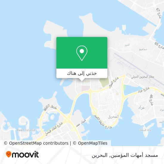 خريطة مسجد أمهات المؤمنين