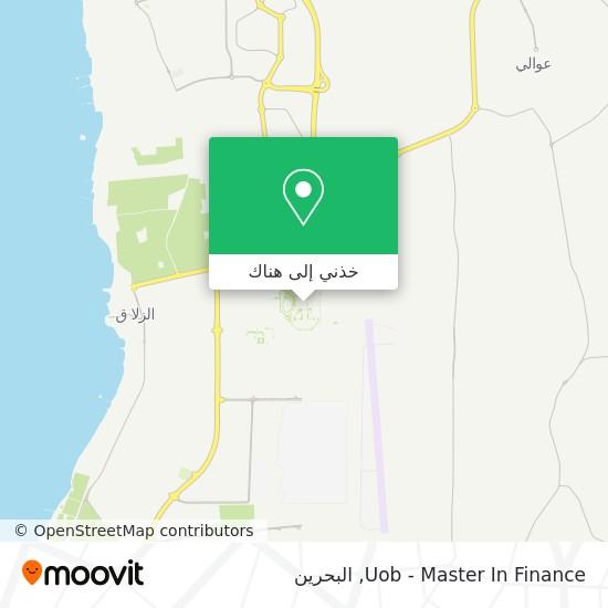 خريطة Uob - Master In Finance