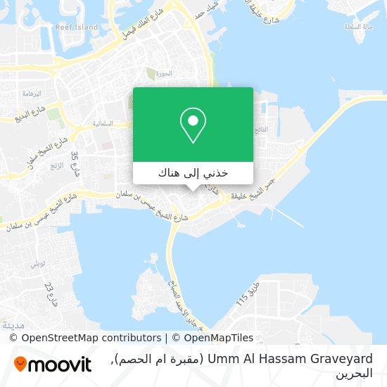 خريطة Umm Al Hassam Graveyard (مقبرة ام الحصم)