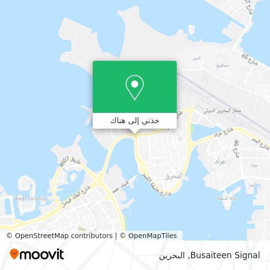 خريطة Busaiteen Signal