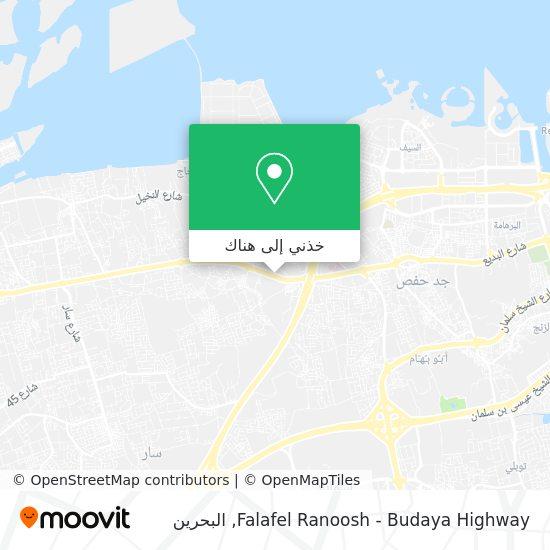 خريطة Falafel Ranoosh - Budaya Highway