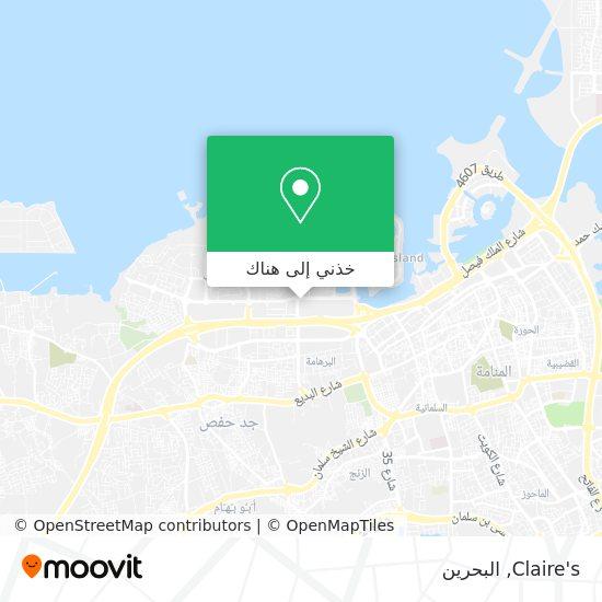 خريطة Claire's
