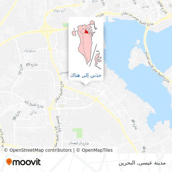 خريطة مدينة عيسى