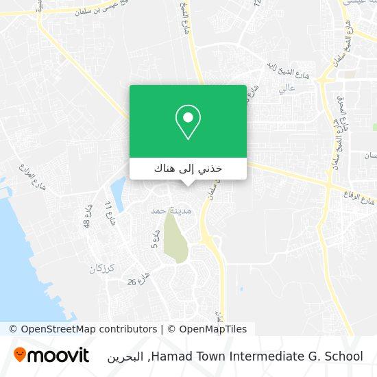 خريطة Hamad Town Intermediate G. School