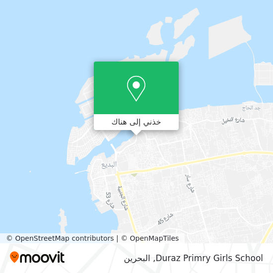 خريطة Duraz Primry Girls School