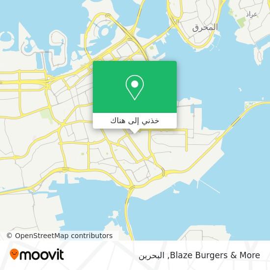 خريطة Blaze Burgers & More