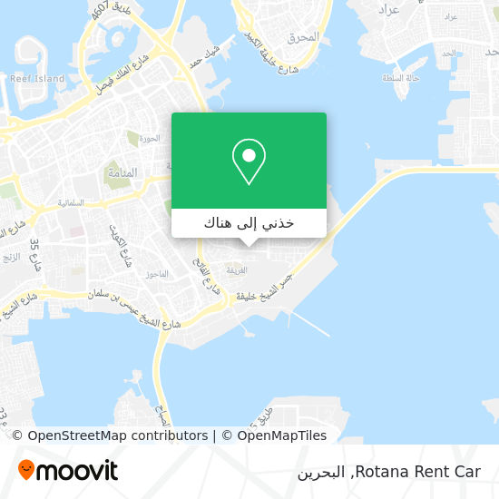 خريطة Rotana Rent Car