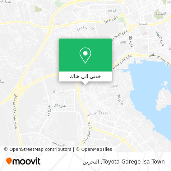 خريطة Toyota Garege Isa Town