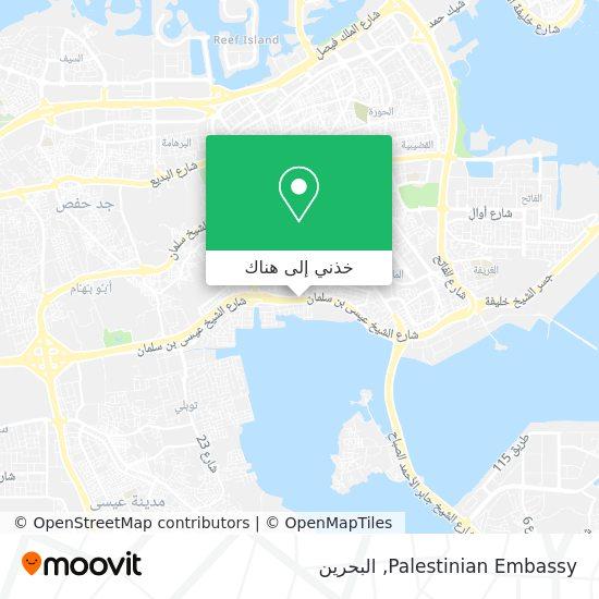 خريطة Palestinian Embassy