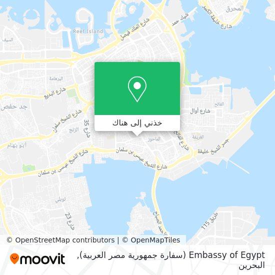 خريطة Embassy of Egypt (سفارة جمهورية مصر العربية)