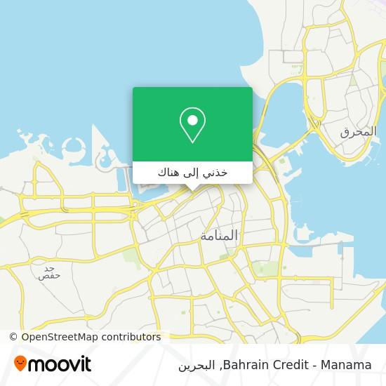 خريطة Bahrain Credit - Manama
