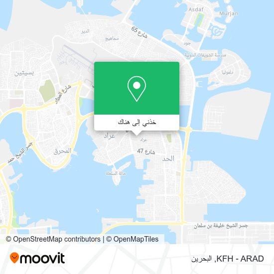 خريطة KFH - ARAD